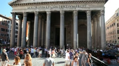 Pantheon building Rome, Italy Stock Footage