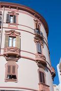 circular palace - stock photo