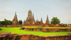 ayutthaya, thailand - circa nov 2013: wat chaiwatthanaram. buddhist temple in - stock footage