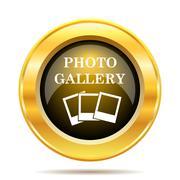 Photo gallery icon. internet button on white background.. Stock Illustration