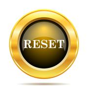 Reset icon. internet button on white background.. Stock Illustration