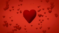 Valentines day hearts motion background, a symbol of love Stock Footage