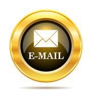 e-mail icon. internet button on white background.. - stock illustration