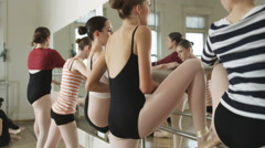 Ballerinas in a dance studio Stock Footage