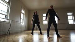 Dancers in a dance studio Stock Footage