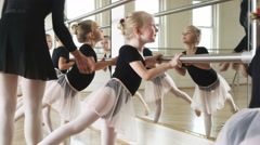 Young ballerinas in a dance studio Stock Footage