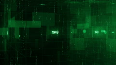 Green abstract generic background, breaking news Stock Footage