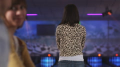 Young people at a bowling alley Stock Footage