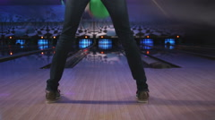young woman bowling - stock footage