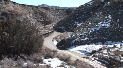River & Stream Theodore Roosevelt National Park Spring Runoff - stock footage