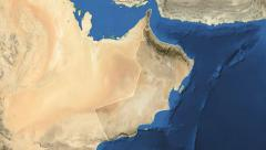 Oman. 3d earth in space - zoom in on Oman contoured on green screen 4k - stock footage