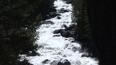 River & Stream Yellowstone National Park Spring Rapids Canyon - stock footage