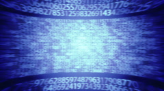 Cryptography Random Numbers Blue Background  Loop Stock Footage