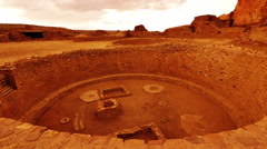 4K Chaco Culture 03 Time Lapse Pueblo Bonito Native American Ruins Sunset Stock Footage