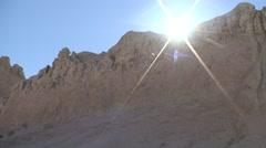 Badlands Badlands National Park Summer Sun Backlight Wall - stock footage