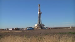 Large Drilling Rig Wide Shot Stock Footage