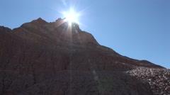 Badlands Badlands National Park Summer Backlit Sun - stock footage