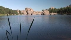 Lake & Pond Black Hills Summer Sylvan Lake Granite Water Stock Footage