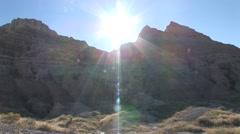 Badlands Badlands National Park Summer Sun Flare Stock Footage