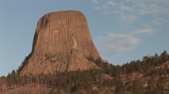 Other Devils Tower National Monument Summer Dawn Devils Tower Stock Footage