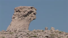 Badlands Agate Fossil Beds National Monument Summer Badlands Erosion Rock Zoom - stock footage