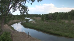River & Stream Fort Laramie National Historic Site Summer Laramie River Stock Footage