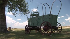 History Fort Laramie National Historic Site Summer Wagon Pioneer History Stock Footage