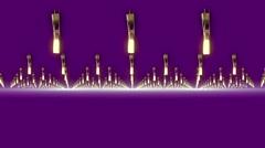 Gold stars, purple background, loop Stock Footage