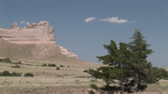 Badlands Scotts Bluff National Monument Summer Scotts Bluff - stock footage