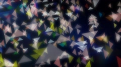 Colorful triangles abstract motion backgrounds Stock Footage