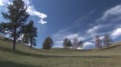Prairie Western Region Summer Blue Sky Clouds Stock Footage