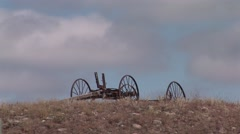 History Western Region Wagon Hilltop Stock Footage