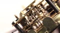 Close up of an internalclockmechanism Stock Footage