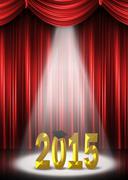 Graduation 2015 in spotlight Stock Illustration