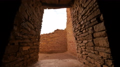 4K Chaco Culture 08 Time Lapse Pueblo Bonito Native American Ruins Sunset Stock Footage