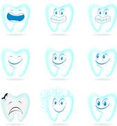 Molar cartoon vector set Stock Illustration