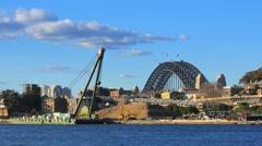 Construction site, Sydney 4k Stock Footage
