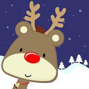 baby deer xmas card - stock illustration