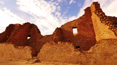4K Chaco Culture 09 Time Lapse Pueblo Bonito Native American Ruins Sunset Stock Footage