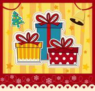 Christmas gift boxe Stock Illustration