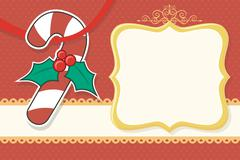 christmas background with candy cane - stock illustration