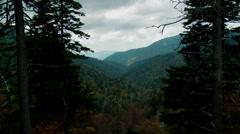 Autumn valley smoky mountain national park 1 Stock Footage