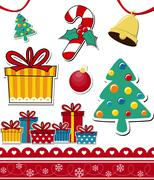 Christmas theme decoration elements Stock Illustration