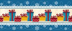 Christmas seamless border with gift boxes Piirros