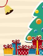 pine tree and gift boxes - stock illustration