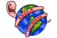 ebola outbreak - stock illustration