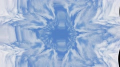 Blue clouds Kaleidoscopic Video Background Loop Stock Footage
