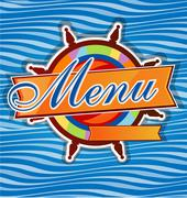 Restaurant  menu whit rudder Stock Illustration