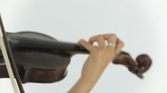 Young talented girl masterfully plays the violin Stock Footage