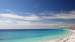 Cancun beach panorama view - stock footage